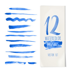 blue brush vector image