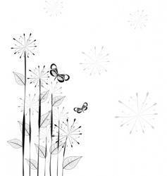 dandelions pattern vector image
