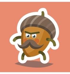 Emoticon Icon Cheeky Nut vector image vector image
