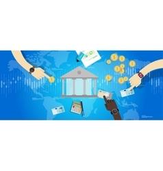 international central bank banking industry market vector image vector image