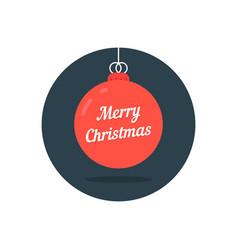 Red xmas ball icon like merry christmas vector