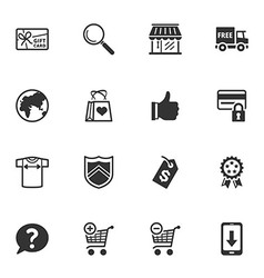 Shopping and E-commerce Icons - Set 2 vector image vector image