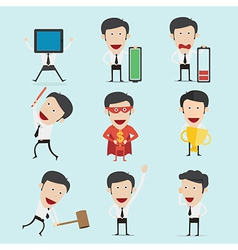 Businessman character set version2 vector image vector image