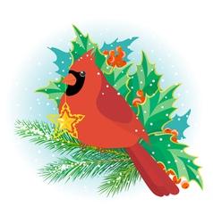 Christmas cardinal vector