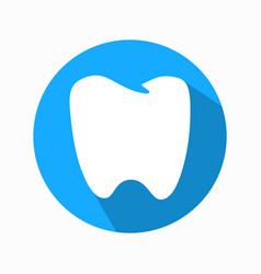 flat tooth icon modern design vector image vector image