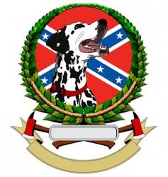 logo with dalmatians vector image
