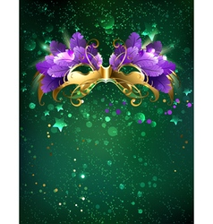 Mask on a Green Background vector image
