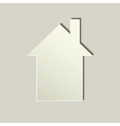 white paper house icon vector image vector image