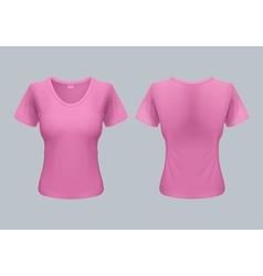 Woman t-shirt vector