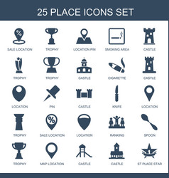 25 place icons vector