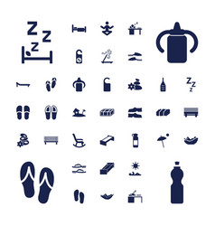37 relax icons vector