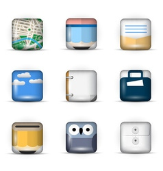 3d app icons vector image