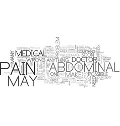 Abdominal pain text word cloud concept vector