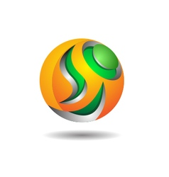 Abstract Sphere Logo Icon Template vector image