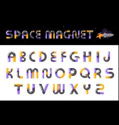 alphabet creative font letters set vector image
