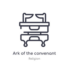 Ark convenant outline icon isolated line vector