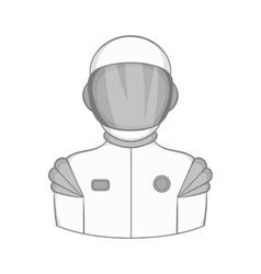 Astronaut icon black monochrome style vector image