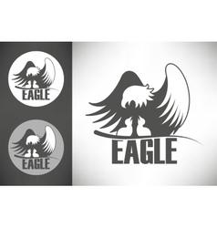 Bald eagle in nest logo vector