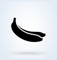 Bananas bunches black banana fruits with white vector