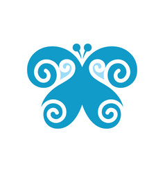 butterfly abstract sign vector image