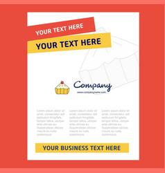 cake title page design for company profile annual vector image