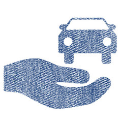 Car gift hand fabric textured icon vector