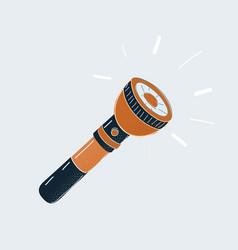 cartoon pocket flashlight torch on vector image