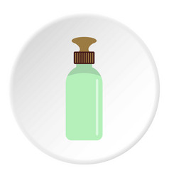 Closed vial icon circle vector