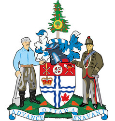 coat arms ottawa is one 13 provinces vector image