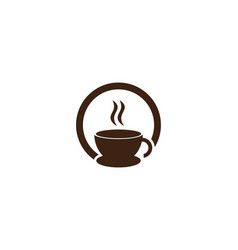 coffee logo template vector image