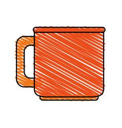 Color crayon stripe image porcelain mug of vector