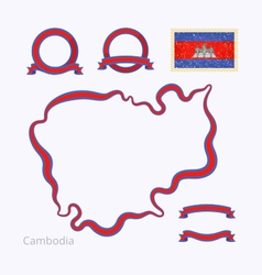 Colors of Cambodia vector image