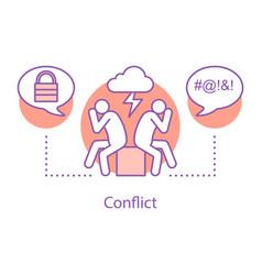 Conflict concept icon vector