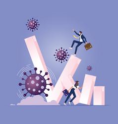 coronavirus caused global economy to collapse vector image