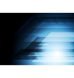 Dark blue technology background vector