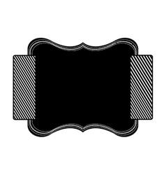 Decorative label icon vector