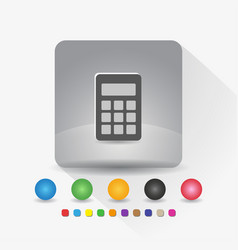 digital calculator icon sign symbol app in gray vector image