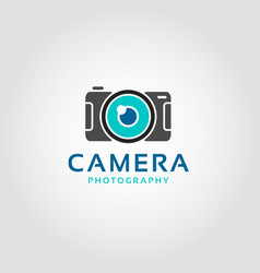 digital camera logo template vector image