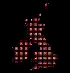 dot great britain and ireland map vector image