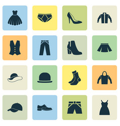 Dress icons set collection of heel footwear vector