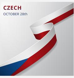 Flag czech 28th october vector