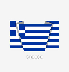 Flag of greece flat icon waving flag with country vector
