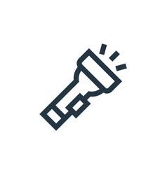 Flashlight icon isolated on white background vector