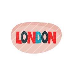 flat of london sticker with vector image