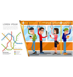 flat public transport composition vector image