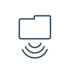 Folder file wifi internet things line icon vector