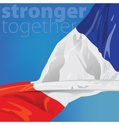 France Stronger together vector