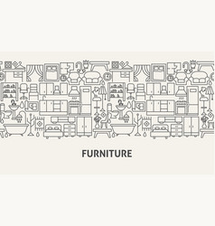 furniture banner concept vector image