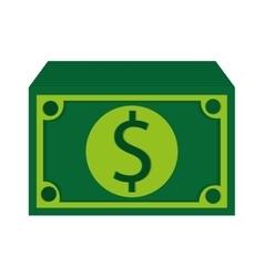 green dollar bills icon vector image