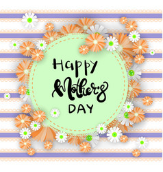 Happy mothers day greeting card background with vector